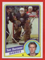 1984-85 Topps #14 Tom Barrasso Pack Fresh NEAR MINT+ ROOKIE RC Buffalo Sabres