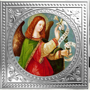 Archangel Gabriel - Italian School Proof Silver Coin 1$ Niue 2018