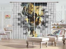 Iron Man Breaks Walls 3D Curtains Blockout Photo Printing Curtains Drape Fabric