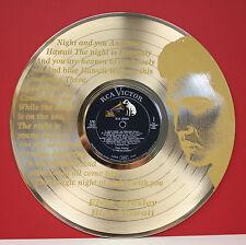 Elvis Presley Laser Etched Lyrics Gold LP Record LTD Edition Wall Art Display