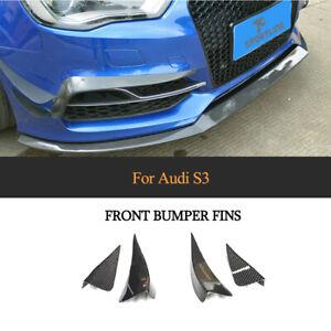 Carbon Flossen Flap Canard für Audi A3 Sline/S3 14-16 Front Stoßstangen Splitter