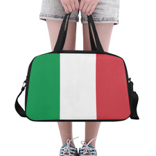 Fashion Custom Overnight Bag Duffle Flag of Italy Weekender Travel Bag DIY