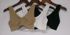 Comfortisse Size XL Perfect Fit Set Of Seamless Bras Beige/ Black/ White New