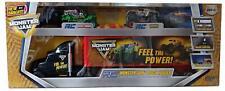 Monster Jam Truck Hauler RC w/2 Radio Control Cars; Zombie Grave Digger & Max-D