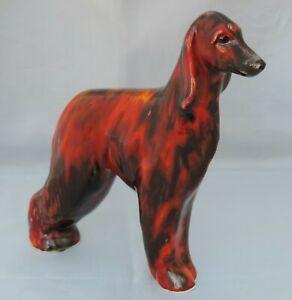 Anita Harris Afghan Hound - signed in gold - 15cm tall