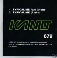 (384I) Kano, Typical Me - DJ CD