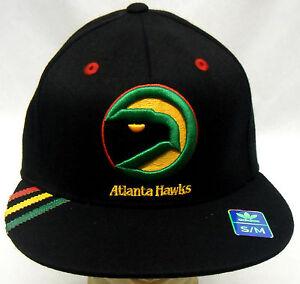 NBA Atlanta Hawks Adidas Flat Brim Flex Cap Hat S/M & L/XL NEW!!
