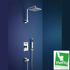 Dorf Arc Shower System includes Diverter Mixer Overhead Shower and Hand Shower