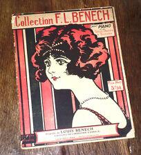 une collection de 7 danses à succès partition piano seul 1921 F.-L. Bénech