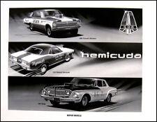 1962 Dodge Dart Max Wedge Race Art Print Lithograph, 1970 Barracuda Belvedere