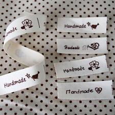 Cotton Fabric Ribbon Trim - Sewing Label - Handmade - Bird