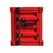 INDUSTRIAL BEDSIDE CABINET METAL STORAGE TOOLS BOX CONTAINER GARAGE VINTAGE RED