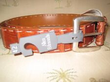 Allen Edmonds Caiman Crocodile Belt 42 Pick Stitching Brand New $450
