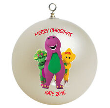 Personalized Barney Christmas Ornament Add Your Name #2