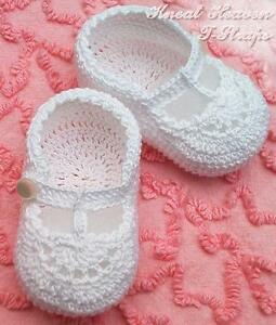 Crochet T-Straps Baby/Reborn Doll Booties