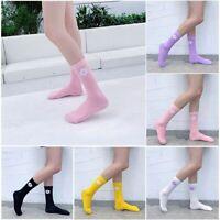Women Harajuku Socks Girls Flower Print Skate Long Sock Korean Funny Socks