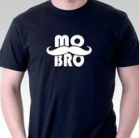 Funny t-shirt MO BRO with mustache Movember brothers cotton stache slogan tee