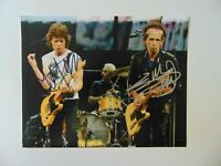 """The Rolling Stones"" Mick Jagger & Keith Richards Signed 10X8 Color Photo COA"