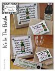 """It's In the Bottle"" Cross Stitch Pattern NOTEWORTHY NEEDLE Wine - Beer"