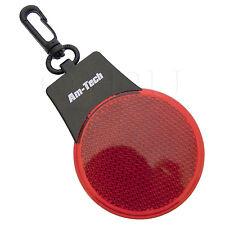 2 LED Clip per Riflettore Luci Bici Ciclo di lavoro ROAD Riflettente Rosso Vivo Shine