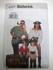 Child Pirate Costume Pattern 6295 size XS 2  S 3 4 M 5 6 L 7 8