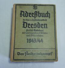 Antik Adressbuch Dresden 1943/44, über 1000 Seiten, Dresden und umliegende Orte
