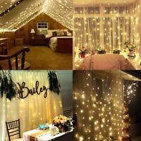 300 LED String Fairy Light Curtain Light Outdoor Garden Party Wedding Xmas Decor