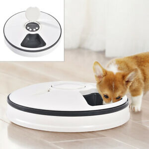 AUTOMATIC TIMED PET FEEDER 6 DAY MEAL CAT DOG FOOD BOWL DISPENSER HOLIDAY