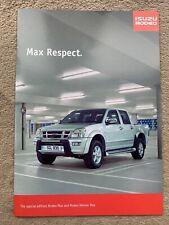 2004 Special Edition Isuzu Rodeo Max & Rodeo Denver Max Car Brochure (UK)