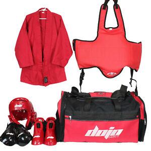 Complete Dojo Youth Karate Martial Arts Taekwondo Sparring Gear Set Child Medium