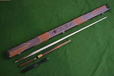 NEW HANDMADE CARDINAL WOOD ASH SNOOKER/POOL CUE SET WITH CASE EXTENSION SET