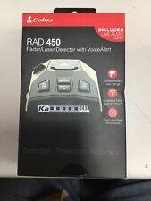 Cobra Rad 450 Radar/Laser Detector With Voice Alert