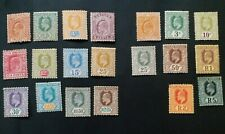 CEYLON 1904 2c to 5r SG 277 - 288 292 - 299 Sc 178 - 195 MH some gum toning