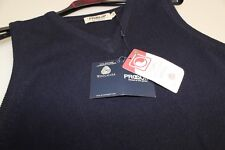 Ladies Proquip V Neck Slip-over Sleeveless Easy Care Lambswool Small - 12  Navy