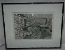 """Bruce Swart 2:17 AM Signed Etching-  12 X 8.5"""" RARE"""