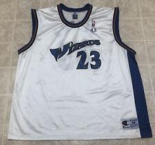 Vintage NBA Michael Jordan Washington Wizards Champion Jersey 48 White