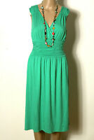 Laurèl Kleid Gr. 38 grün wadenlang ärmellos Sommer Shirt Kleid