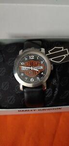 *BRAND NEW* Bulova Men's Harley-Davidson Bar & Sheild Wrist Watch 76A04