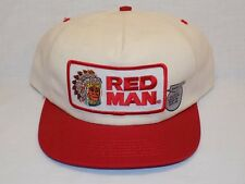 Vintage NOS Red Man Chewing Tobacco Snapback Trucker Hat Unused Patch Made USA