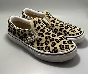 Vans Slip On Skate Shoe Kids Leopard Journeys Exclusive Used Size 3 Pre-owned