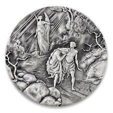2016 2 oz .999 Silver Coin - Adam & Eve - Biblical Coin Series #A493