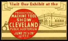 USA Poster Stamp - 1940 Machine Tool Show - Cleveland, Ohio