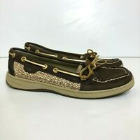 Sperry Top Sider Angelfish Womens Sz 7.5M Leather Boat Shoe Gold Glitter 9101841