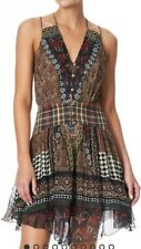 New Camilla Franks Paved In Paisley Short Dress With Shaped Waistband M Uk 10 12