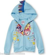 My Little PONY Jacket Girl's size 4T NeW Rainbow Mane on the Hood Zip-Up Hoodie