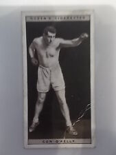 Con O Kelly 1928 Ogdens Boxing Cigarette card Boxer Pugilists in action No 32