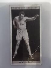Con o Kelly 1928 tarjeta de cigarrillos Ogdens Boxeo Boxer Pugilists En Acción Nº 32