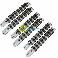 """6 Pc Snap ferrocarril el soporte del enchufe de almacenamiento de ferrocarril Set De 46 sockets 1/4 """"de 3/8"""" de 1/2 pulgada"""