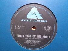 """Jennifer Warnes """"Right Time Of The Night""""  1976 ARISTA Oz 7"""" 45rpm"""