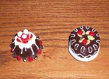 Lot of 2 PERUGINA Refrigerator Magnets BACI Chocolate Cake Torte Candy Italy HTF